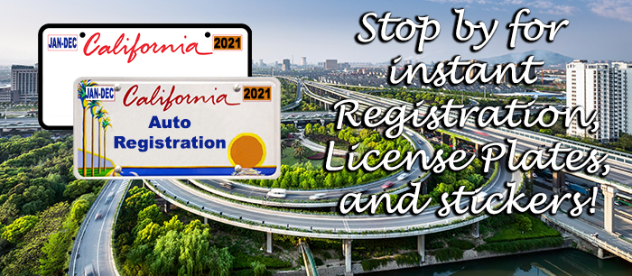 Save time with us, we handle California Vehicle Registration!
